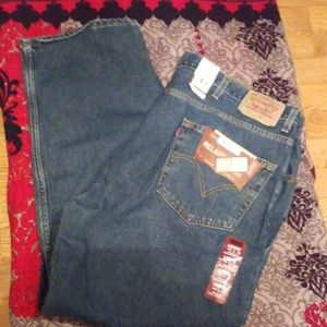 MENS LEVIS 550 RELAXED JEANS SIZE 44 X 30 IRREGULA
